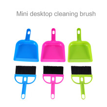 Colorful Soft Cleaning Sweeper Dust Pan Mini Plastic Hand Kitchen Dustpan And Brush Set(China)