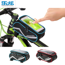 ROSWHEEL 6.2 Inch Touch Screen Bike Bag Front Frame Pannier Cycling Top Tube Bag MTB Mountain Road Bicycle Repair Tool Bag Pouch