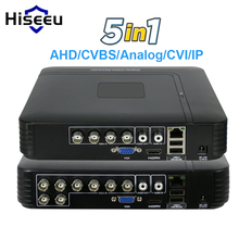 5 1 CCTV Mini DVR TVI CVI AHD CVBS IP Camera Digital Video Recorder 4CH 8CH NVR System P2P Security Hiseeu - Store store
