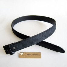 Retail Black Velvet Real Leather Belt Second Layer Belt BELT2-008BK Brand New In Stock Fast Delivery Free Shipping