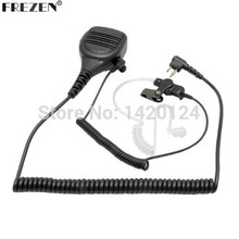 Speaker Mic Microphone For Motorola Walkie Talkie Radios GP300 CP200 XLS PR400 EP450 GTX P1225 P110 with Coil Cord Surveillance