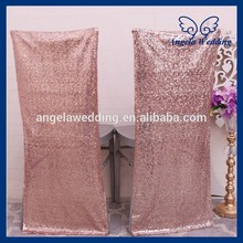 CH004HA popular Discount cheap wedding metalic rose gold sequin chair cover