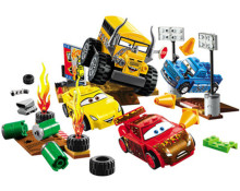 191Pcs 2017 New Cars Juniors Thunder Hollow Crazy 8 Race car Building Blocks kids DIY Brick Toys Compatible with Lepin10744(China)
