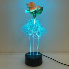 Flower Arrangement 3d Rose Lamp 7 Color Led Night Lamps For Kids Touch Led Usb Table Lampara Lampe Baby Sleeping Nightlight