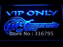 408 Miller Time Live VIP Only Beer LED Neon Sign with On/Off Switch 20+ Colors 5 Sizes to choose(China)