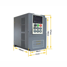New Universal AC VFD 1.5KW 1Phase 220V VC V/F Control Digital Inverter Frequency Converter Output 400Hz 7A for Spinning Machine