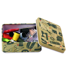 Tin Metal Box Case Wedding Seal Jewelry Pill Cases Home Storage Organizer for Jewelry Kids Toy Gift with Sewing Tools