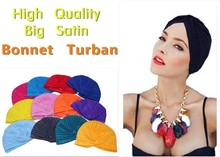 WomensDate Hot Sale 20 Color Indian Cap For Women Turban Hats Women's Head Wrap Band Hat Beanies Muslim Ethnic Hat 1Pcs