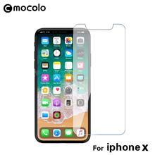 Mocolo New Arrival 2.5D 9H Tempered Glass 2pcs/lot for iPhone X Anti Scratch Screen Protector For iPhone 10 Glass Film in stock(China)