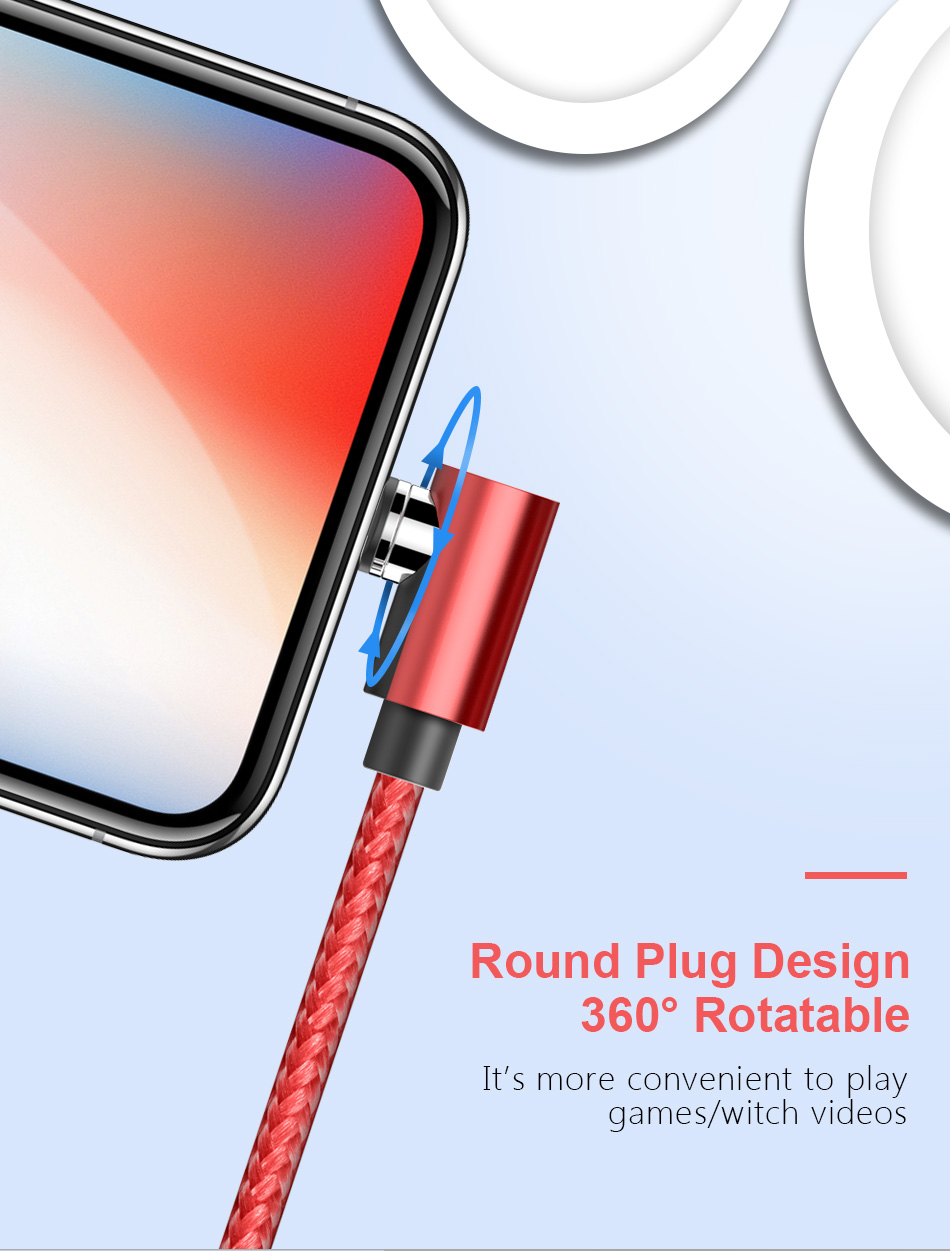 NOHON 90 Degree Magnetic Charging Cable For iPhone X XS MAX XR Micro USB Type C Fast Charger For Xiaomi Samsung S9 Magnet Cables (6)