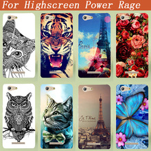 Case For Highscreen Power Rage 5.0 inch Fashion hard PC Colors Patterns Painted Back Cover For Highscreen Power Rage Phone Cases