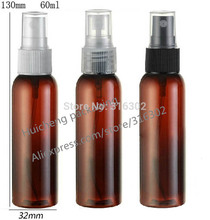 50pcs/lot 60ml Amber PET Perfume Bottle, 60cc Mist Spray Plastic Bottle, 2 oz Fragrance Perfume Bottle