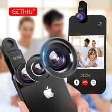 GETIHU Universal 3in1 Wide Angle Macro Fisheye Lens Camera Mobile Phone Lenses Fish Eye Lentes iPhone Smartphone Accessories
