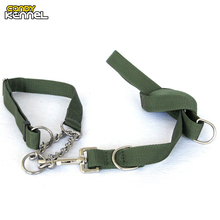CANDY KENNEL Adjustable Army Green PP Pet Leash Collar Set Training Walking Leads For Medium Large Dog D1069(China)