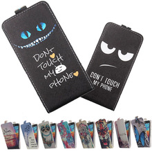 For DEXP Ixion M345 Onyx M450 Neon MS250 Sky MS350 Rock Plus Phone case Painted Flip PU Leather Holder protector Cover