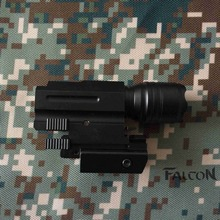 Tactical Red Dot Laser Sight + LED Flashlight Combo Hunting Laser for Pistol Guns Glock 17,19,20,21,22,23,30,31,32(China)