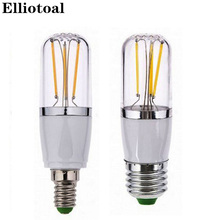 e27 led e14 cob filament 12V lamp dimmable110V/220V bulb 3w 6w e27 e14 led lamp filament housing cob corn blub e27 e14(China)