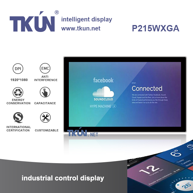 21.5 projected capacitive touch display,Multi-touch display,Widescreen touch display
