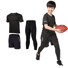 2017new kids boys running sets quick dry jogging sport gym compression suit Rugby jersey set Children basketball rugby Clothing(China)