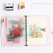 Cute creative 6 holes PVC rabbit serie index paper for spiral notebooks,candy dividers set notebook accessories stationery A5 A6