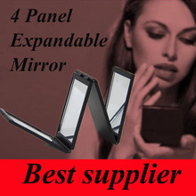 Toppik 4 Folding Mirror Instant Hair Growth Bald Head Hair Growth Plus Hair Fibers Accessory Black Color(China)