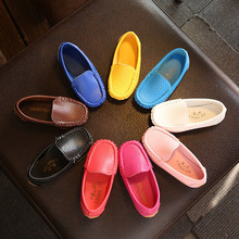 2017 New hot sales leather shoes Pu soft baby shoes Cool cool candy color baby girls boys shoes slip on noble baby toddlers