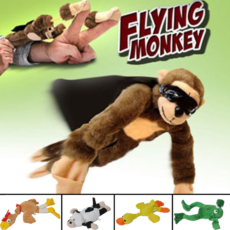 Flying Monkey Novelty Products For Gifts,Novelty Gadget Items Brinquedos Para As Criancas,Plush Slingshot Gag Kids Novelty Toys(China)