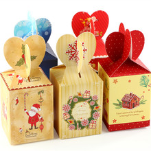 20Pcs Fishtail Style Merry Christmas Gifts Wrapping Candy Box for Christmas and New Year Santa Claus Present Package boxes