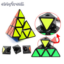 Abbyfrank Pyramid Magic Cube Triangle Shape Cubos Pyraminx Speed Puzzle Cube Game Magicos Twist Puzzle Learning Educational Toys(China)