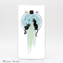 4075CA Window Cats Transparent Hard Cover Case for Galaxy A3 A5 A7 A8 Note 2 3 4 5 J5 J7 Grand 2 & Prime
