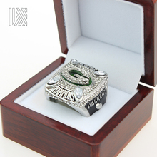 Fast delivery Drop shipping for businessman Green Bay Packers Aaron Rodgers Super Bowl 2010 Championship Ring 11 silver plated(China)