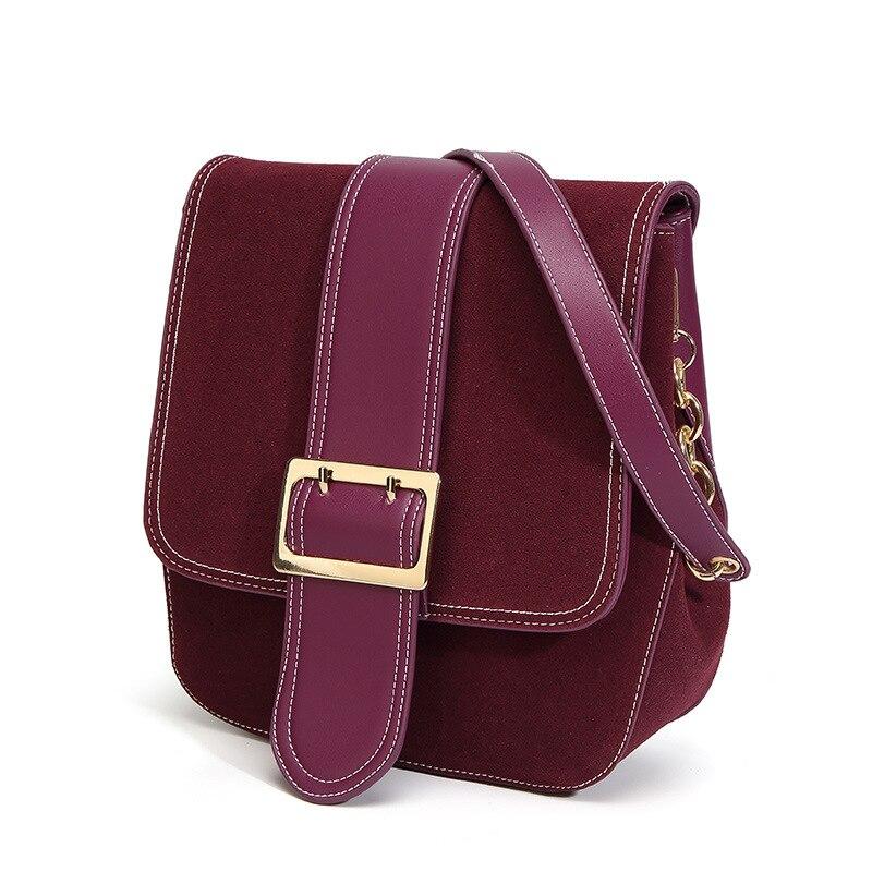 CNMIUTER Women Real Split Suede Leather Shoulder Bag Female Leisure Nubuck Casual Handbag Hobo Messenger Top-handle bags<br>