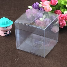 10x10x10cm 30PCS/Lot Transparent PVC Boxes Clear PVC Gift Package Box Waterproof Box For Jewelry/Candy/Food Accept Custom Logo