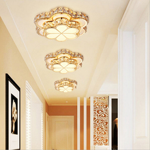 Creative Clover Smart Color Change Crystal LED Iron Acrylic Ceiling Lamp Corridor Ventilation Living Room Decoration Lighting