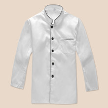 2017 Chef Uniforms Chefs Clothing for Men Women Work Food Services Cooking Costume Coat Long Sleeve White