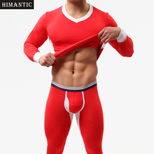Brand New 1 Set Winter Warm Men Long Johns Soft Thermal Underwear Men Thermo Long Johns Underpants Legging masculina long johns(China)