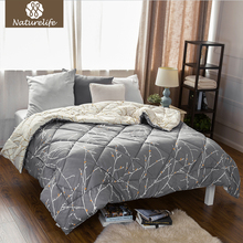 Naturelife Full Filling Duvet Printed Reversible Comforter Duvet Down Duet Breathable down Comforter edredom futon Full king(China)