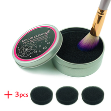 Makeup Brush Cleaner Sponge Remover Color From Brush Eyeshadow Sponge Tool Cleaner Quick Color Off Make Up Brushes Cleaner(China)