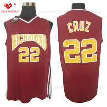 Top Movie #22 Timo Cruz Jersey Throwback Basketball Jersey Vintage Retro Richmond Oilers Shirt For Men Stitched(China)