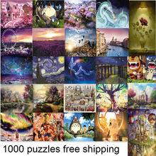 24 Types Hot Sales 1000 pieces puzzles Cartoon puzzle of Adult Unisex And Children puzzles Educational Toy landscape puzzle
