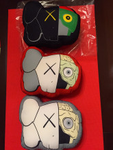 KAWS Canvas Cushion Car Decoration Anime Cartoon Plush Clean Slate Stuffed KAWS Toys 3 color in stock Ka36