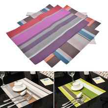 1 PCS PVC Quick-drying Placemats Insulation Mats Coasters Kitchen Dining Table Place Mat Wholesale Price