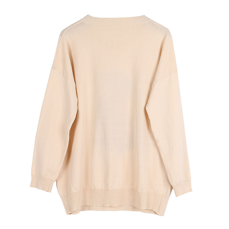 Compre Camisa De Punto De Mujer De Primavera Otoño Baggy Patrón De ...