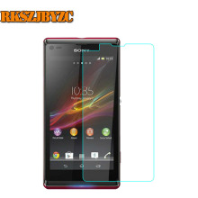 2.5D Premium Tempered Glass For Sony Xperia L S36H C2105 Screen Protector Front Cover Guard Film With Cleaning Tool