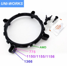 Desktop 3in1 CPU Cooler Fan bracket heatsink  Holder Base For LGA1150 1156 1155 775 1366 socket