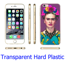Trendy Frida Kahlo Transparent Phone Case for iPhone 5S 5 SE 5C 4 4S 6 6S 7 Plus Cover ( Soft TPU / Hard Plastic for Choice )