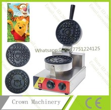 Commercial Bear and Tiger Shape Nonstick 110v 220v Electric Cartoon Waffle Maker Iron Baker Mold Plate