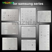 WOZNIAK 8 Pcs IC Chip BGA Stencil Direct Heating Reballing Stencil Tin Ball Soldering Net For Samsung S3 S4 S5 S6 edge note3 4 5(China)