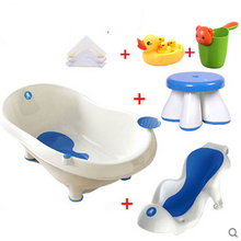 Nice Blue Baby Plastic Bath Tub Newborn Baby Bathtub Large Basin Thickened Bathing Tub