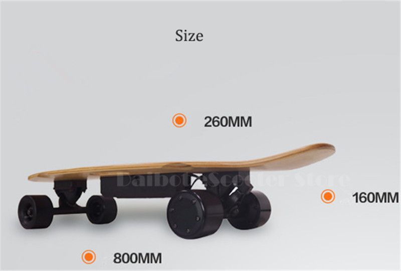 Daibot Portable Electric Scooter 4 Wheel Electric Scooters Removable Battery Dual Hub Motor Wheel Longboard Electric Skateboard (2)
